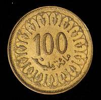Монета Туниса 10 миллим 1997 г.