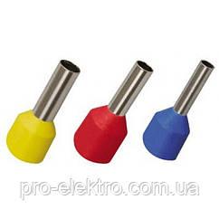 Наконечник-гильза Е1012 1мм2 с изолированным фланцем (темно-красный) (100шт) IEK UGN10-001-03-12