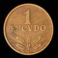 Монета Португалии 1 эскудо 1972 г.