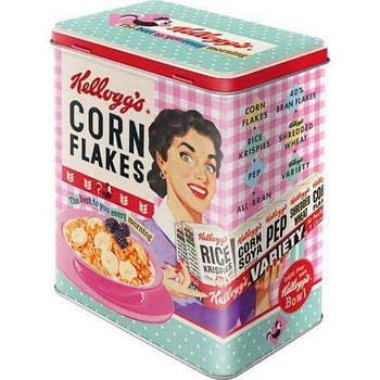Коробка для хранения Nostalgic-Art Kelloggs Happy Hostess Corn Flakes  L (30147)