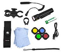 Фонарь ручной LedLenser MT10 Outdoor с аксессуарами 500925, черный
