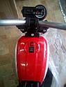 Электромобиль мотоцикл детский красный колеса надувные от 3-х до 8-ми мотор 2*15W аккумулятор 6V7AH, фото 4
