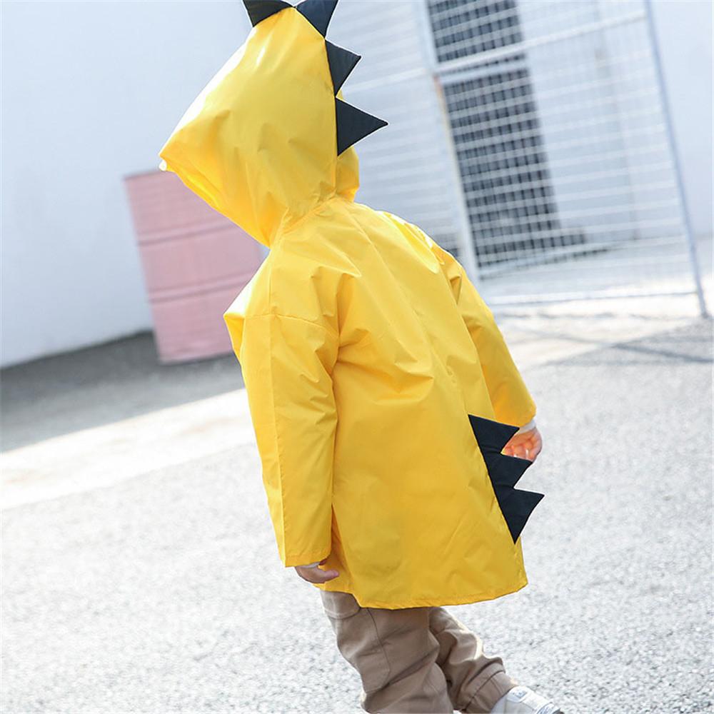 "Дитячий плащ-дощовик SUNROZ з капюшоном на кнопках ""Дракончик"" XL Жовтий (SUN5251)"