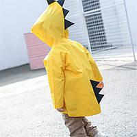 """Дитячий плащ-дощовик SUNROZ з капюшоном на кнопках """"Дракончик"""" XL Жовтий (SUN5251), фото 1"""