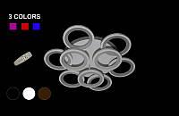 Люстра светодиодная 130ват  с диммируеммым пультом 5538-6-3 Color LED (черная,белая,коричневая)
