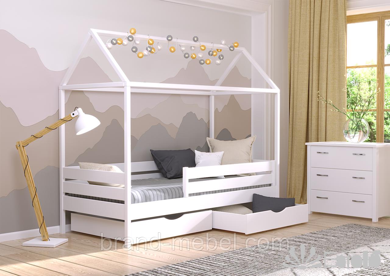 Ліжко дерев'яне Аммі (кровать деревянная), хатка-домик