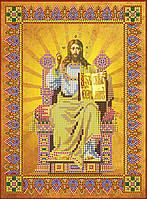 Схема для вышивки иконы бисером на натуральном художественном холсте «Господь Вседержитель»
