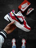 Кроссовки мужские Nike M2K Tekno x Off White Красно-белые