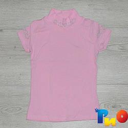 Детская футболка-американка, со стразами, для девочек 6-12 лет (4 шт. в уп.)