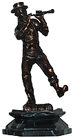 """Бронзовая статуэтка """"Музыкант"""" (h-17cm)"""