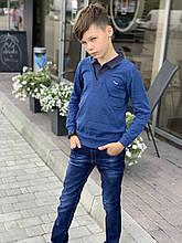 Обманка голубая для мальчика 110 см
