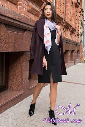 Женское демисезонное пальто из кашемира (р. S, M, L) арт. Вива 7868 - 43788, фото 2