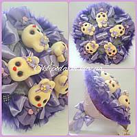 Букет из мягких игрушек Violet / букет из зайчиков / плюшевый букет / подарок ребенку