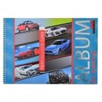 Альбом для рисования, А4, 20 л., спираль, 100г/м2, YES, серебряная фольга, Performance cars