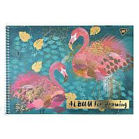 Альбом для рисования, А4, 20 л., спираль, 100г/м2, YES, золото, фольга, Opium
