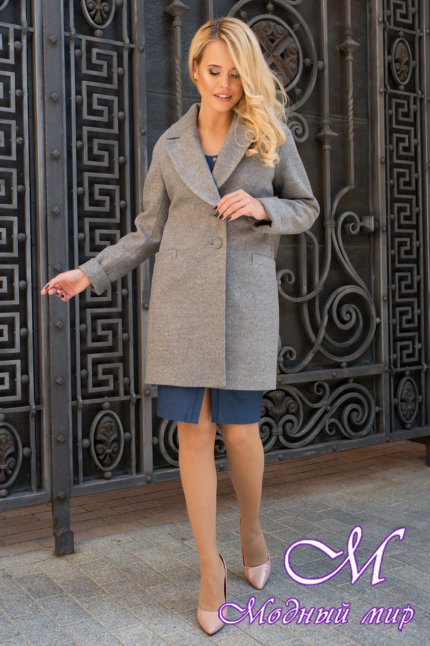 Женское осеннее пальто из кашемира (р. S, M, L) арт. Вива 7868 - 43796