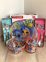 Детская посуда 5 предметов Лол LoL