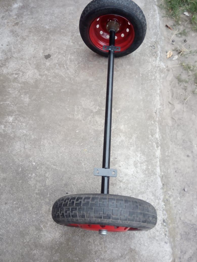 Балка для причепа з колесами в зборі (маточини 01 шплинтованые)