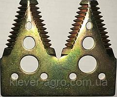 Сегмент ножа жатки двойной H163131 (крупная насечка) Jhon Deere