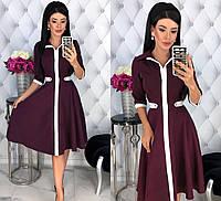 Женское платье на каждый день из костюмной ткани