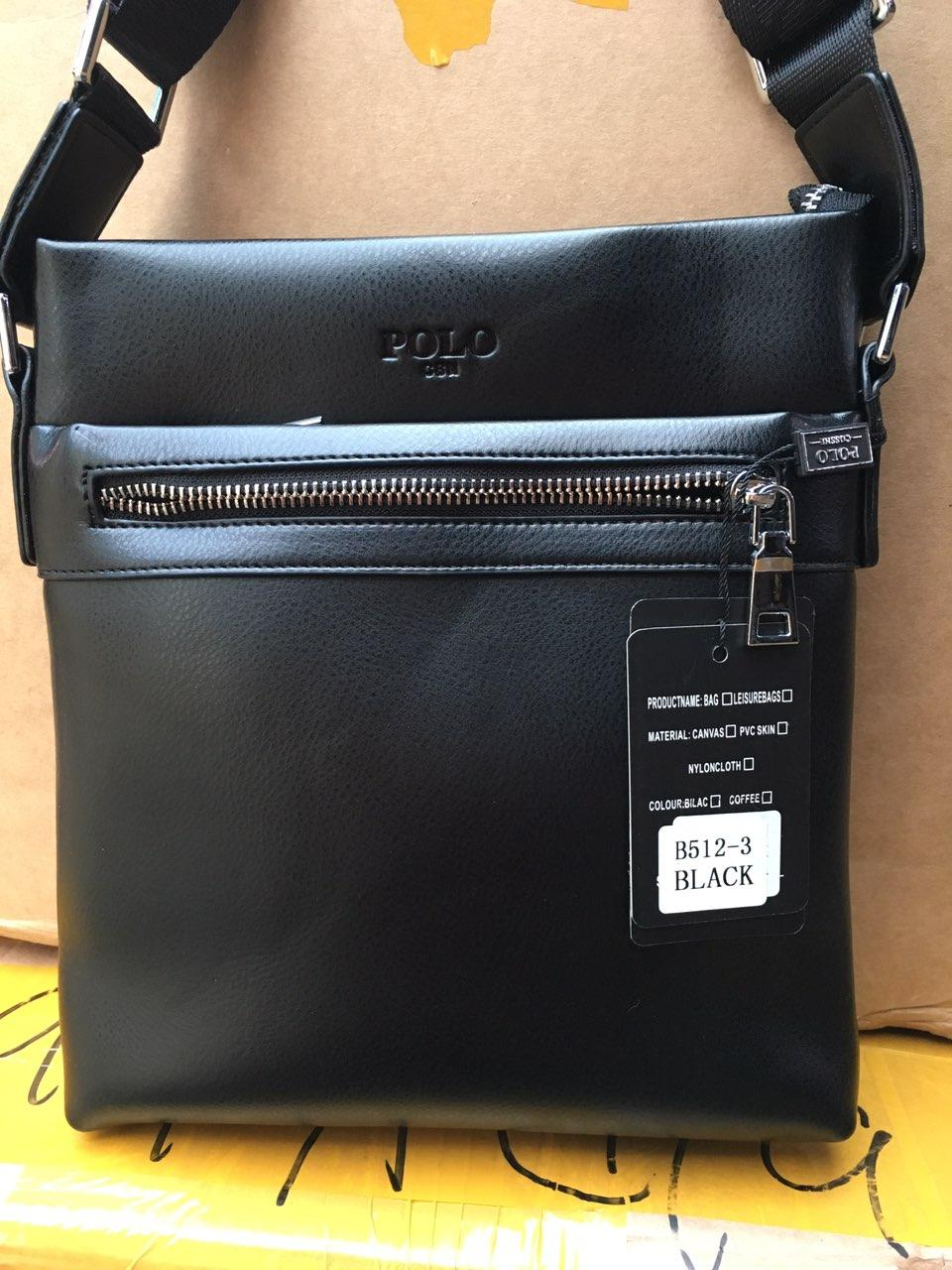 Мужская сумка через плечо от фирмы Polo без клапана опт/розница
