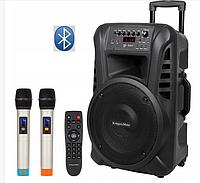 "Портативна колонка Kruger&Matz 12"" з мікрофонами 120W (USB/Bluetooth/FM), фото 1"