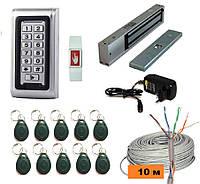 Полный комплект системы контроля доступа в помещение с кодовой клавиатурой