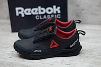 Мужские кожаные кроссовки Reebok (Реплика) (Код: R-2 ч/к  ) ►Размеры [40,41,42,43,44,45], фото 1