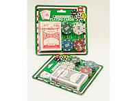 I5-73 Набор для покера 24 фишки, Набор для игры в покер, Покерный набор, Карты с фишками для покера