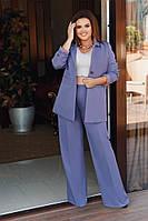 """Стильный женский брючный костюм """"Ankara"""" с пиджаком (большие размеры)"""