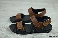 Мужские кожаные сандалии Cardio (Код: 328 рыж) ► [40], фото 1