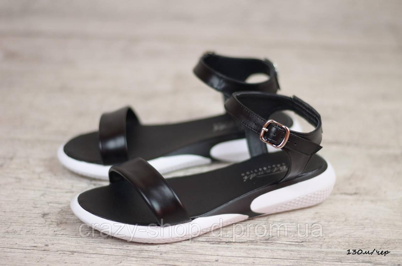 Женские кожаные сандалии, босоножки (Код: 130м/чер) ► Размеры [37,40]