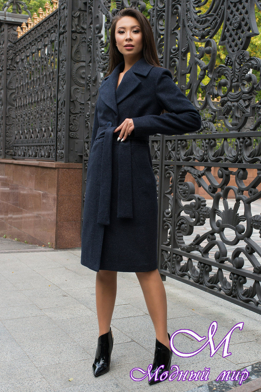 Женское демисезонное пальто до колена (р. S, M, L) арт. Габриэлла 7876 - 43815