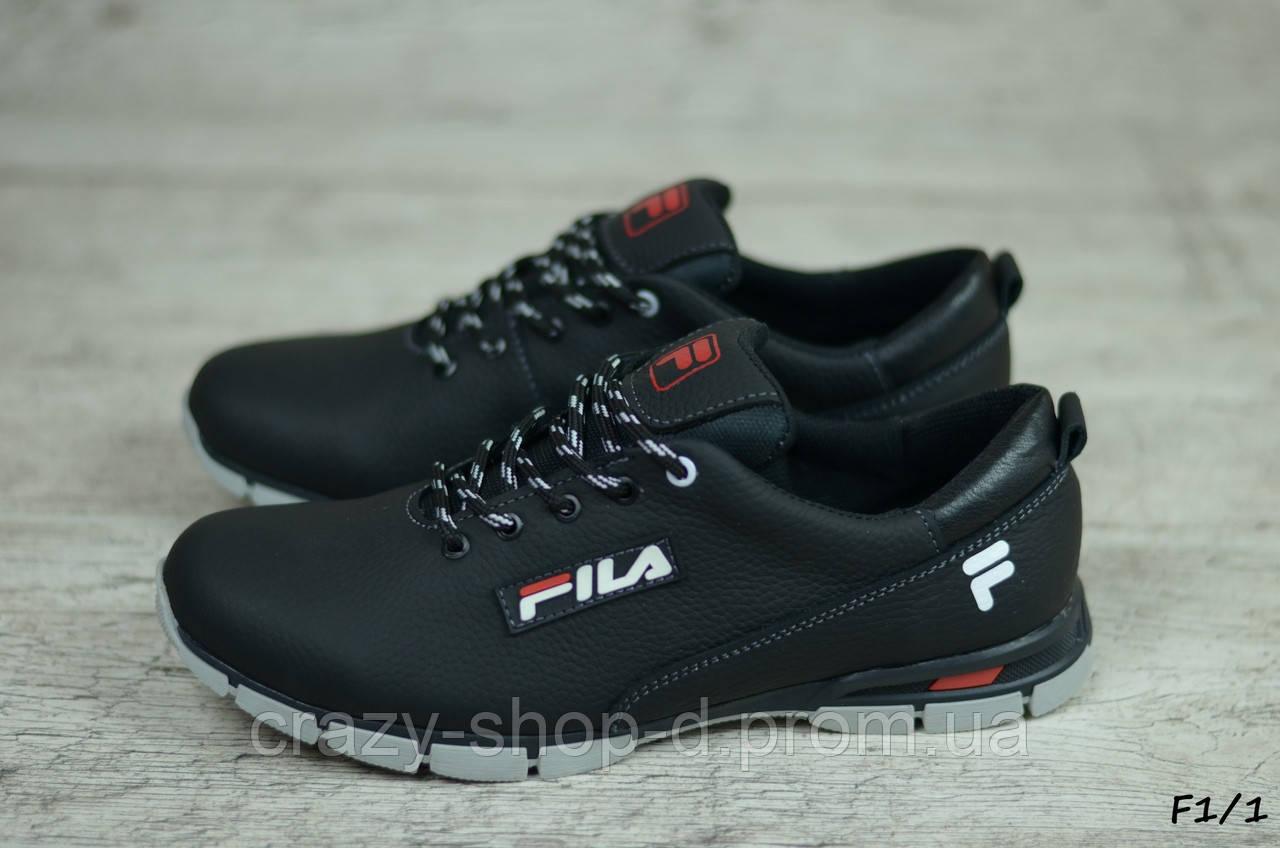 Мужские кожаные кроссовки Fila  (Реплика) (Код: F1/1 ) ►Размеры [40,41,42,43,44,45]