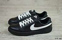 Мужские кожаные кеды Nike (Реплика) (Код: 1/5 чер  ) ►Размеры [40,41,42,43,44,45], фото 1