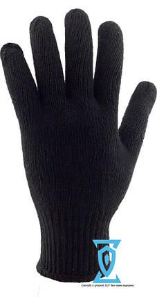 Перчатки рабочие х/б черная с пвх покрытием (Украина), фото 2