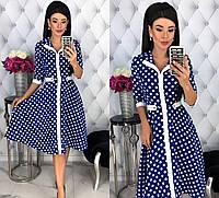 Женское платье на каждый день из костюмной ткани 42 - 48 рр
