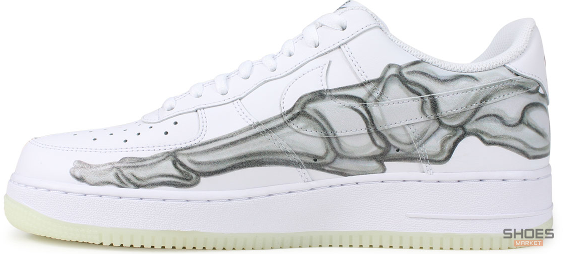 new products caf44 0cd64 Мужские кроссовки Nike Air Force 1 Low Skeleton Halloween (2018) BQ7541-100