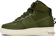 Мужские кроссовки Nike Air Force 1 High Utility Olive Canvas AJ7311-300, Найк Аир Форс