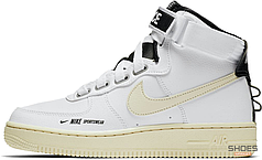 Мужские кроссовки Nike Air Force 1 High Utility White Light Cream AJ7311-100, Найк Аир Форс