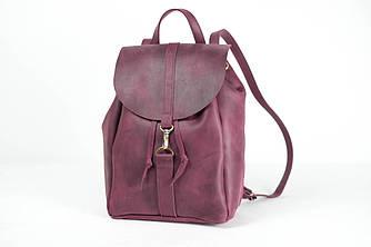 Рюкзак на затяжках с карабином, размер большой Винтажная кожа цвет Бордо