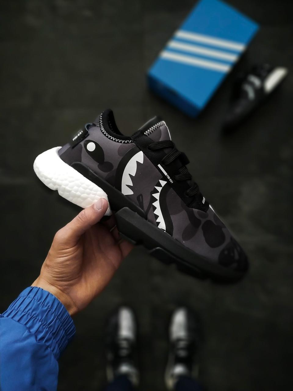 Мужские кроссовки Adidas P.O.D. System 3.1 Bape x Neighborhood, Реплика