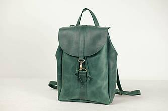 Рюкзак на затяжках с карабином, размер большой Винтажная кожа цвет Зеленый