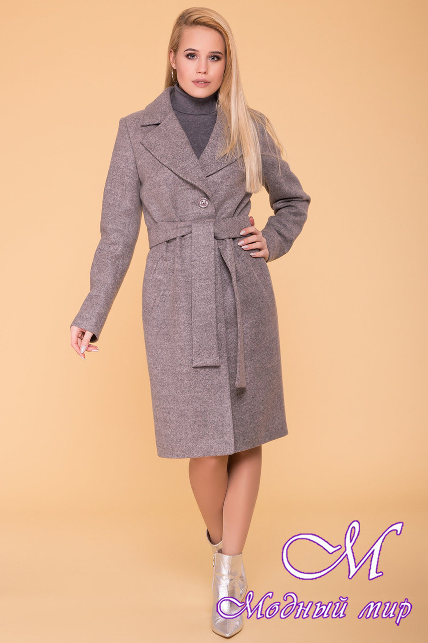 Демисезонное женское пальто до колена (р. S, M, L) арт. Габриэлла 7876 - 43821