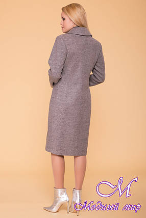 Демисезонное женское пальто до колена (р. S, M, L) арт. Габриэлла 7876 - 43821, фото 2