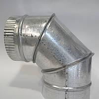 Отвод 90* диаметр 110 мм из оцинкованной стали