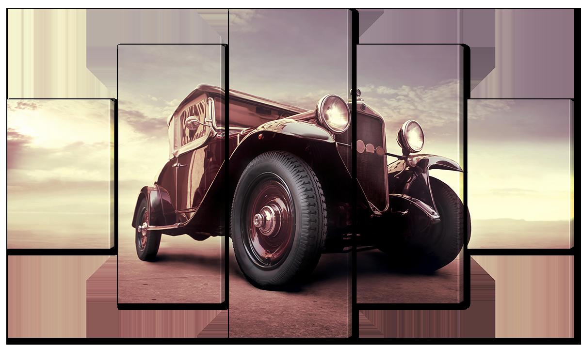 Модульная картина Interno Эко кожа Раритетное авто 158х90см (A1610XL)