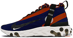 Женские кроссовки Nike React Runner Mid WR ISPA Blue Void Team Orange AT3143-400, Найк ИСПА