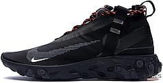 Женские кроссовки Nike React Runner Mid WR ISPA Black AT3143-001, Найк ИСПА