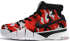 Мужские кроссовки Nike Kobe 1 Protro Undefeated Red Camo (Santa Monica) BV1207-900, Найк Коб